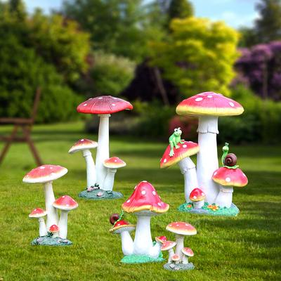 花园摆件仿真大蘑菇雕塑户外园林景观小品婚庆摆设公园庭院装饰品
