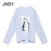 【商场同款】JNBY/江南布衣2019春新品圆领印花衬衫5JB112150