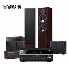 进口Yamaha/雅马哈 RX-V581/SW011/F51/P51家庭影院7.1音响音箱套装杜比全景声数字5.1.2(9件套)
