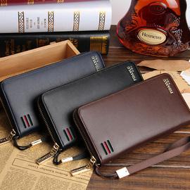 男士长款钱包手拿包拉链 多功能多卡位皮夹时尚休闲大容量手包潮图片