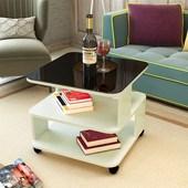 边几现代简约沙发边几客厅移动角几迷你小茶几钢化玻璃话几床头柜