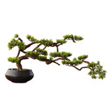 Simulation welcoming pine ornaments plant bonsai new Chinese Luo Hansong living room simulation flower soft decorations green plant potted