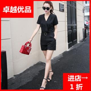 【精选】名媛雪纺新款女装2019衫短裤两件套潮韩版时尚夏季休闲套