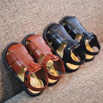 夏季新款男童凉鞋1-6岁小男孩软底包头防滑宝宝小孩学步凉拖鞋子