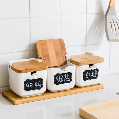 摩登主妇日式调味罐调料盒套装家用厨房调味瓶盐罐创意陶瓷调料罐