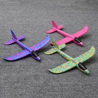 Foam aircraft children's toy hand throwing glider outdoor square hand throwing model resistant falling skid aircraft model