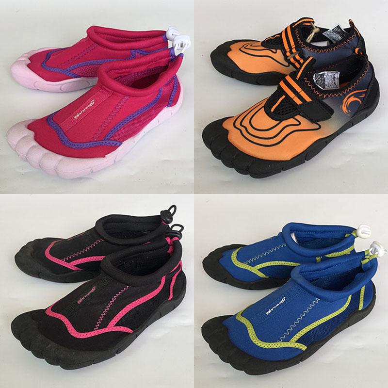 大中童户外运动鞋防滑透气溯溪滑水鞋男女童趾鞋懒人鞋