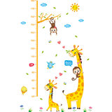Cartoon Children's Measuring Instrument Baby Height Sticker Removable Record Height Scale Wall Sticker Decorative Wallpaper Self-Sticking
