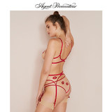 Agent Provocateur LOTIE big inner secret garter AP sex lip embroidery female
