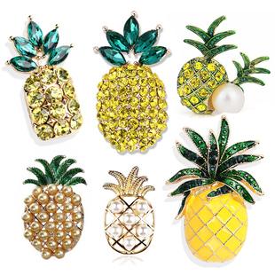 饰言良品韩国新品原创珍珠菠萝胸针别针女士服饰配件胸花领针饰品