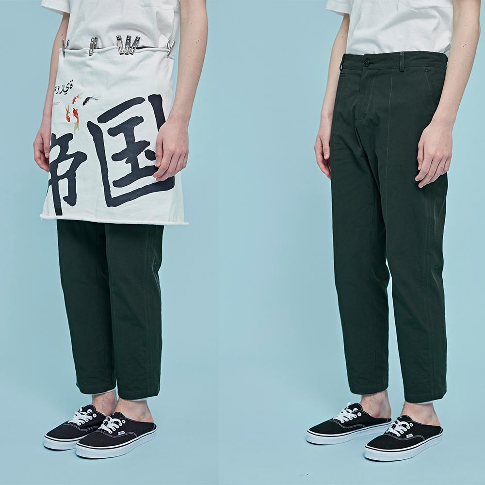 【海龟】潮牌 miichous 19春夏男 灰色垂坠感/墨绿色西装裤