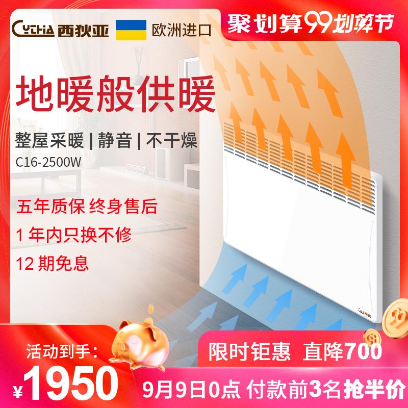 西狄亚进口取暖器家用节能省电暖风机烤火炉对流式电暖气片电暖器