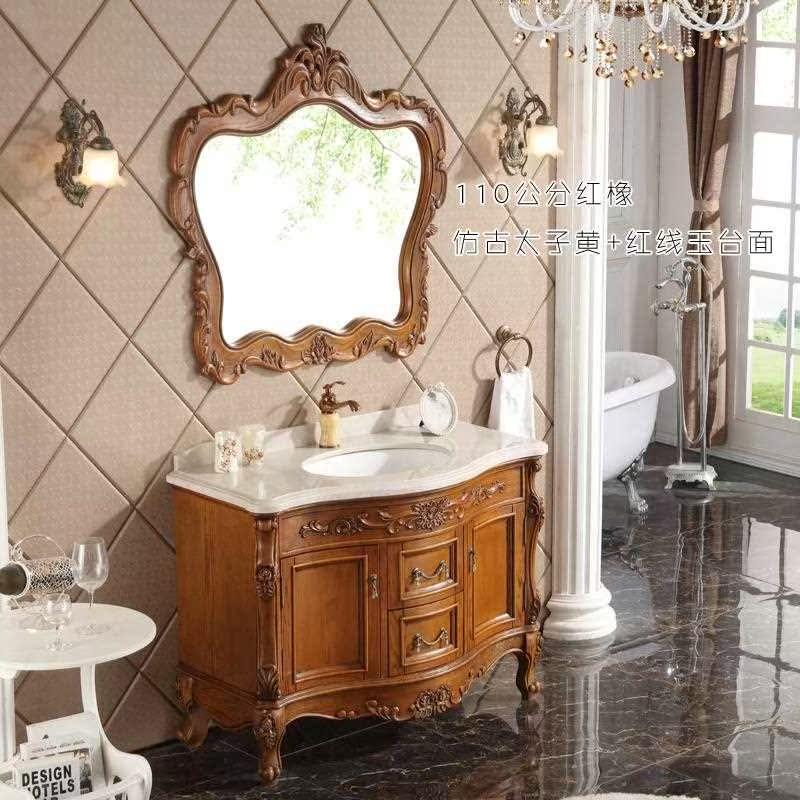 欧式卫浴台上盆柜