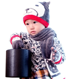 Taiwan mit children's hat gloves scarf multiple sets of winter cute children's gloves hat scarf three-piece set