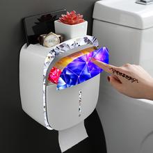 卫生间抽纸盒免打孔家用厕纸厕所创意卫生纸盒纸巾防水卷纸置物架图片