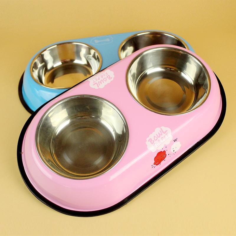 狗猫狗饭盆不锈钢防滑双宠物盆泰迪猫碗狗食盆狗狗用品包邮 其他
