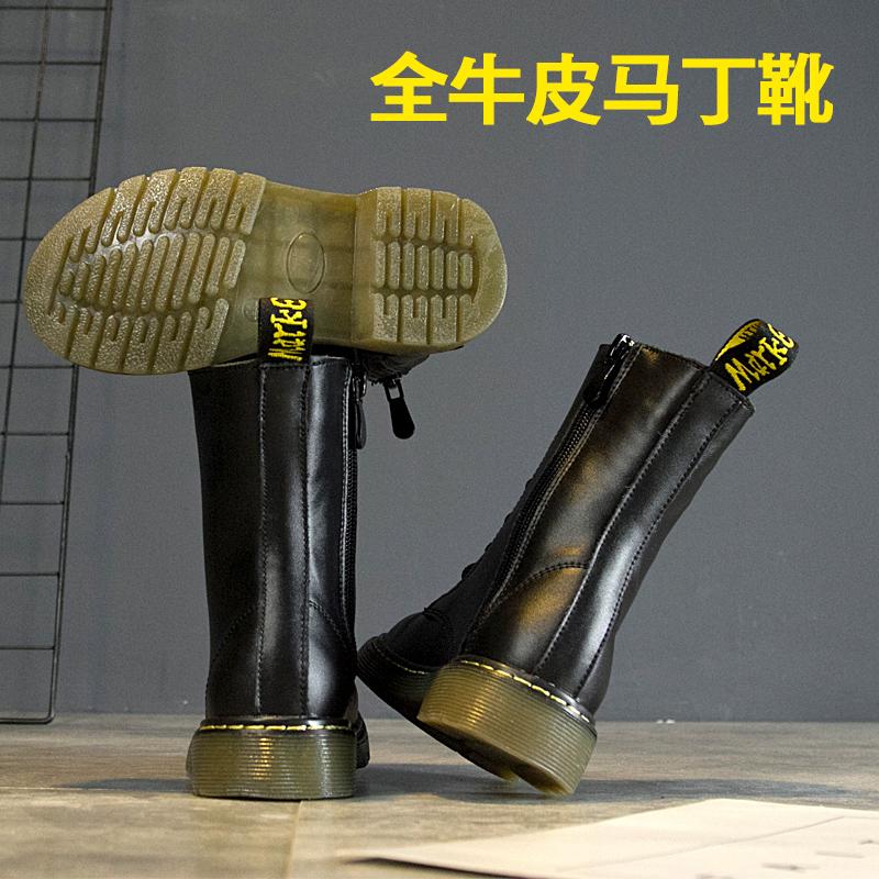 宝宝靴子马丁靴真皮短靴女童靴子