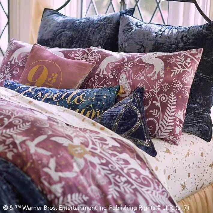 四件套床品迷人月色高支纯棉烫金床单被套哈利波特枕套