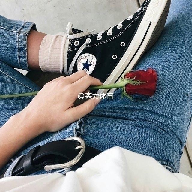 CONVERSE 匡威帆布鞋黑低高帮白蓝红男女经典款休闲情侣鞋 101010