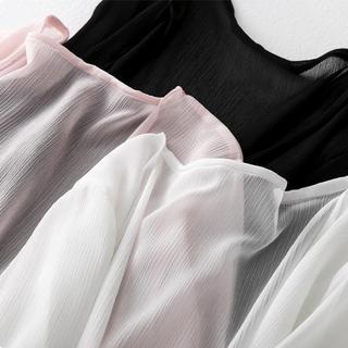 早春雪纺开衫女中长款2019新款女装春装薄款外搭披肩防晒衣外套潮