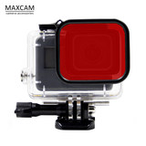 MAXCAM gopro hero7654 waterproof shell small ant 4K diving shell protection box red filter accessories