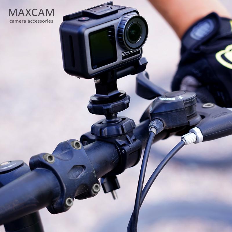 支架单车OSMOACTION运动相机自行车