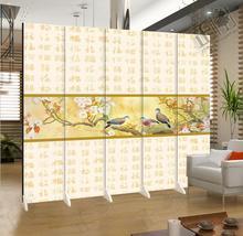 中国风江南水乡福字折叠屏风隔断时尚客厅玄关 餐厅酒店风水背景