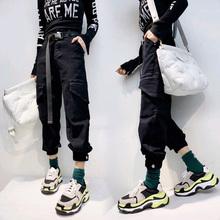 休闲牛仔裤 韩版 子女宽松春2019新款 女bf国潮裤 左一hiphop工装