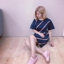 米字旗条纹 短袖 BJ8369 连衣裙 三叶草 SUNMER 专柜正品 adidas