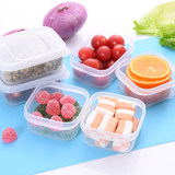 Japan imported refrigerator fresh box snack plastic sealbox mini storage box small small portable fruit box