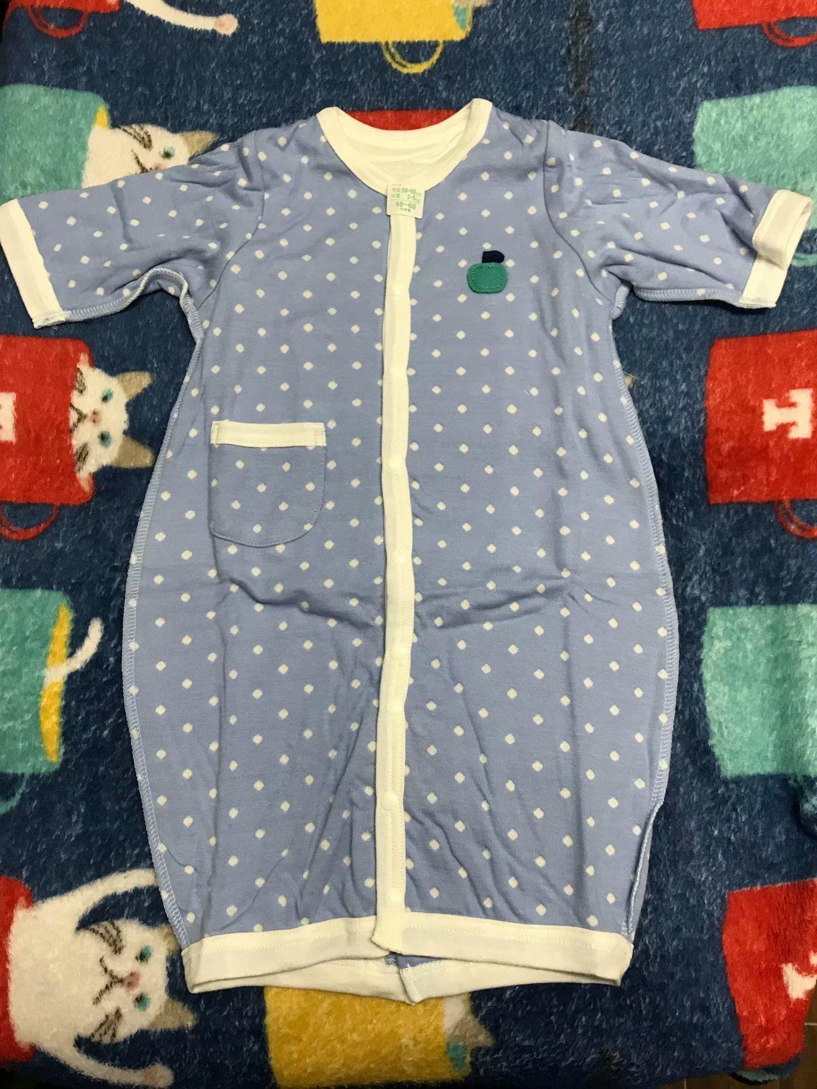 日本千趣会童装 新生儿2穿双层连身衣爬服哈衣