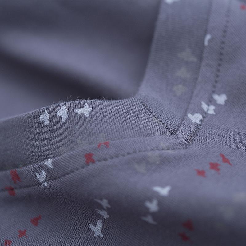 顶呱呱男士秋衣秋裤套装薄款纯棉保暖内衣青年学生打底男式棉毛衫