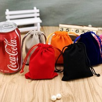 Other gift bag packaging bag factory direct sales flannel custom mouth jewelry bag bundle pocket jewelry pin