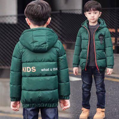 童装男童短款棉衣秋冬装2018新款儿童中大童羽绒棉服轻薄外套加厚