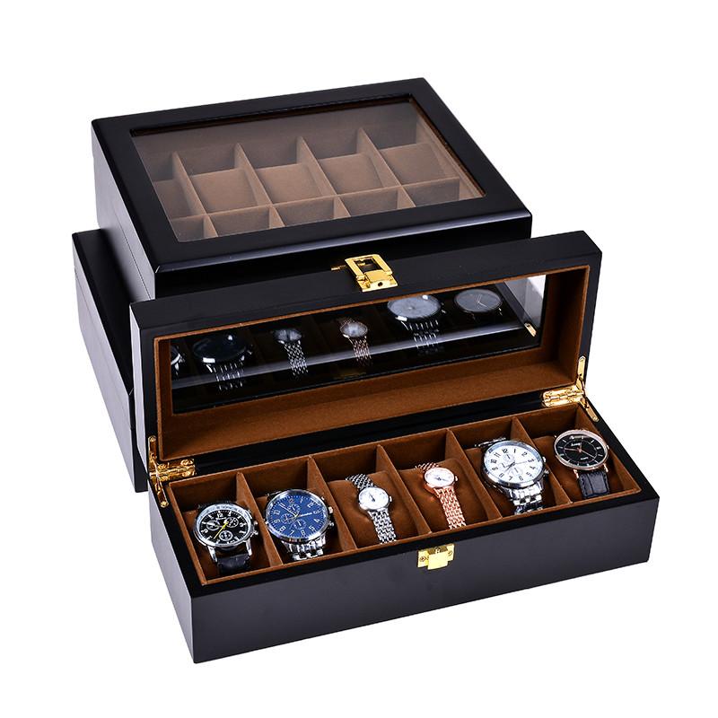 手表盒木质手表收纳盒精美腕表手链整理收藏盒礼品包装首饰展示盒