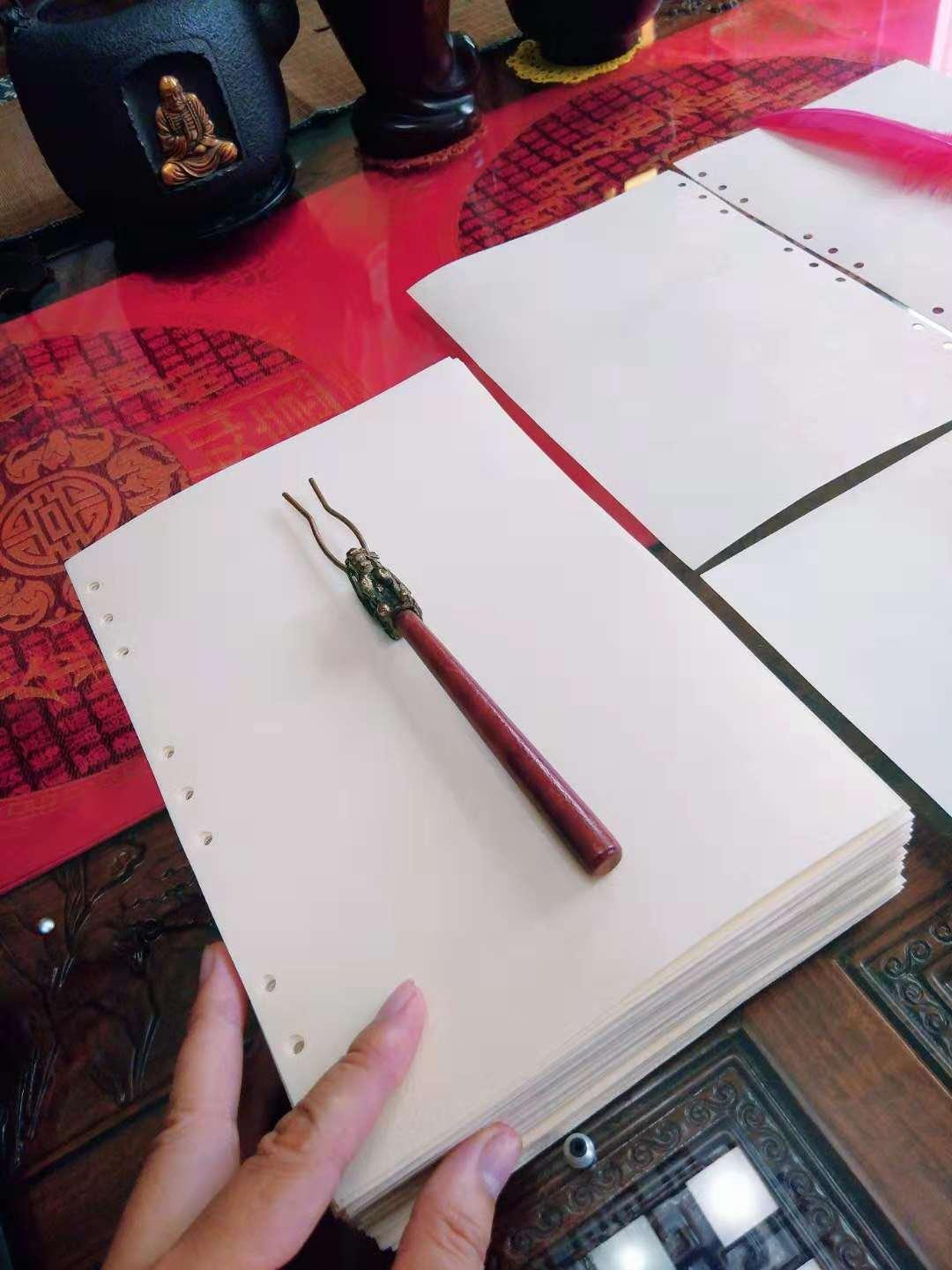 真皮羊皮纸书写白色羊皮纸婚礼情书仪式心愿魔法中世纪手抄本定制