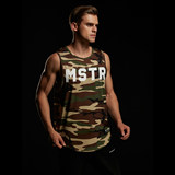 MADMASTER2000 Men's Sports Fitness Loose Sleeveless MSTR Quick-drying Shoulder vest Functional Camouflage