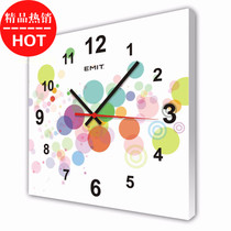 Emit living room frameless picture Clock scan mute movement decorative painting clock memory beauty special Offer