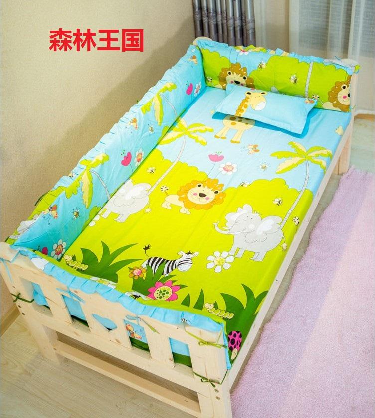 定做纯棉婴儿床围儿童床围宝宝床上用品防撞四面帏四季通用床品