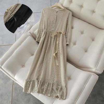 这wanquan是回馈粉丝价格呀 淘宝220元 小清新 长袖蕾丝连衣裙