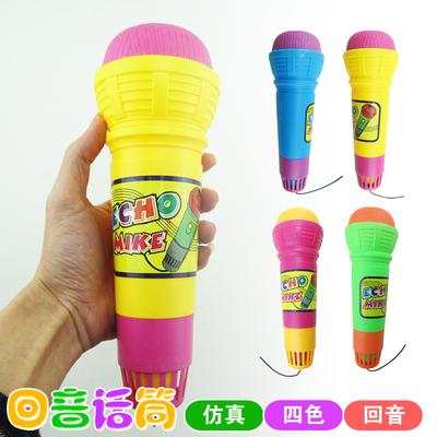 小孩儿童创意话筒无需电池回音回声麦克风幼儿园唱歌仿真话筒玩具