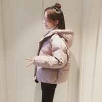 小棉袄新款韩版连帽棉衣女短款宽松学生面包服小个子棉服冬季外套