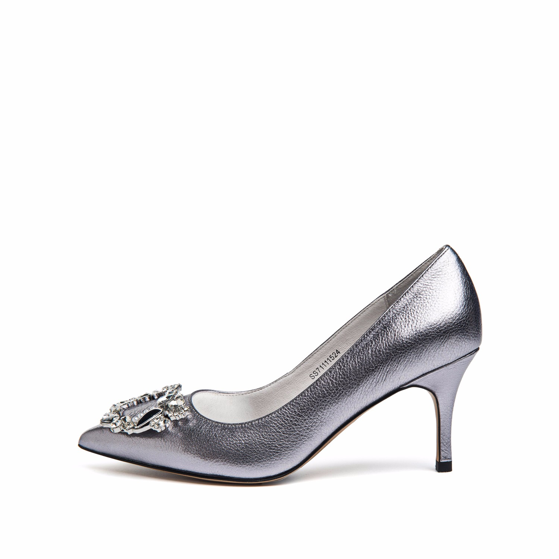 SS71111524 新款尖头高跟单鞋闪亮天鹅绒女鞋 2017 星期六 Sat ; amp & St