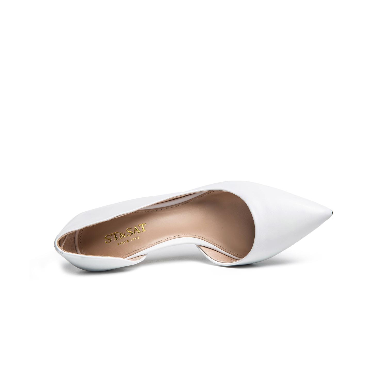SS71111351 星期六春季新款羊皮尖头细高跟侧空单鞋女鞋子 Sat ; amp & St
