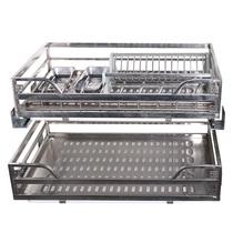 布鲁姆厨房多功能调味拉篮橱柜调味品架橱柜不锈钢调料架厨房刃架
