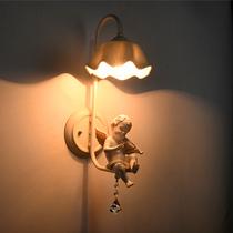 儿童房卧室书房壁灯创意卡通灯男孩女孩海绵宝宝夜灯磨砂喷漆健康