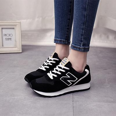 韩版n字鞋女鞋子春秋季单鞋学生运动鞋 女士休闲鞋阿甘跑步鞋板鞋
