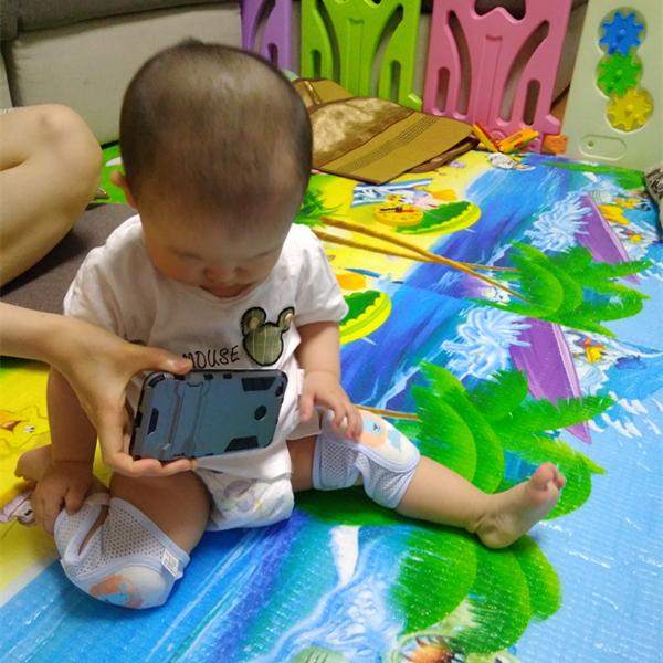 宝宝护膝可调节儿童运动防摔护膝护肘婴儿学步护膝夏季透气护肘