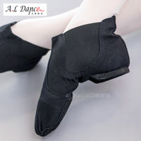 Modern dance jazz shoes women canvas adult summer one foot practice high help jazz boots teacher soft bottom dance shoes