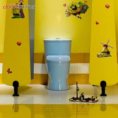 幼儿园彩色陶瓷抽水马桶卫生间小孩座便器儿童直冲式连体坐便器